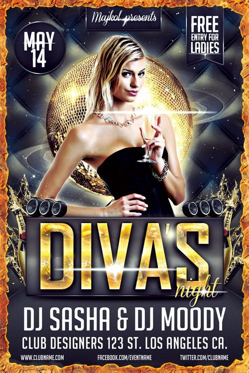 Free Diva's Night Flyer Template