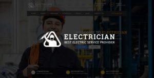 Electrician - Premium Electrician PSD Template