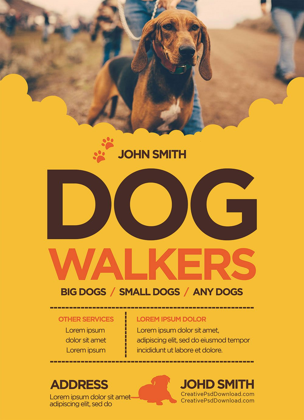 Creative Dog Walkers Flyer Showcase 6