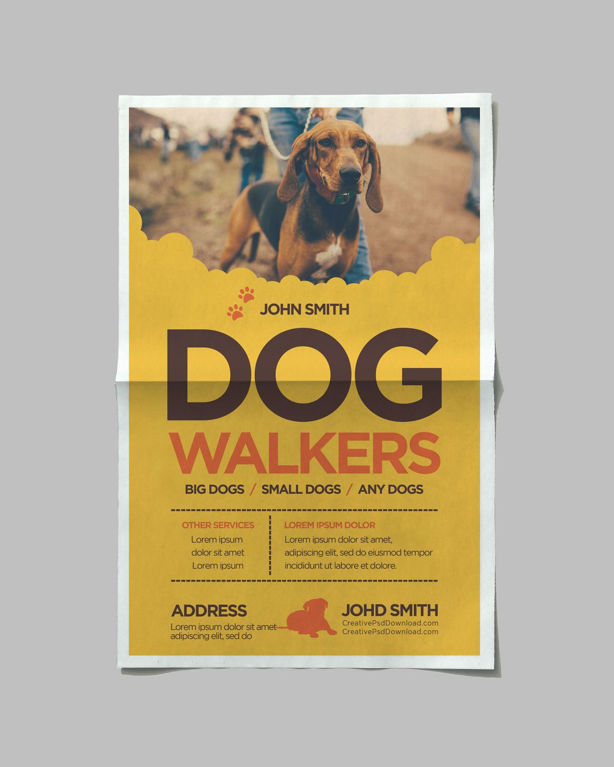 Creative Dog Walkers Flyer Showcase 4