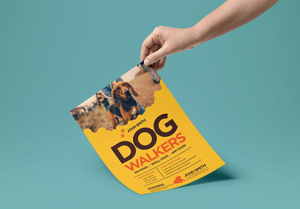 Creative Dog Walkers Flyer Showcase 3