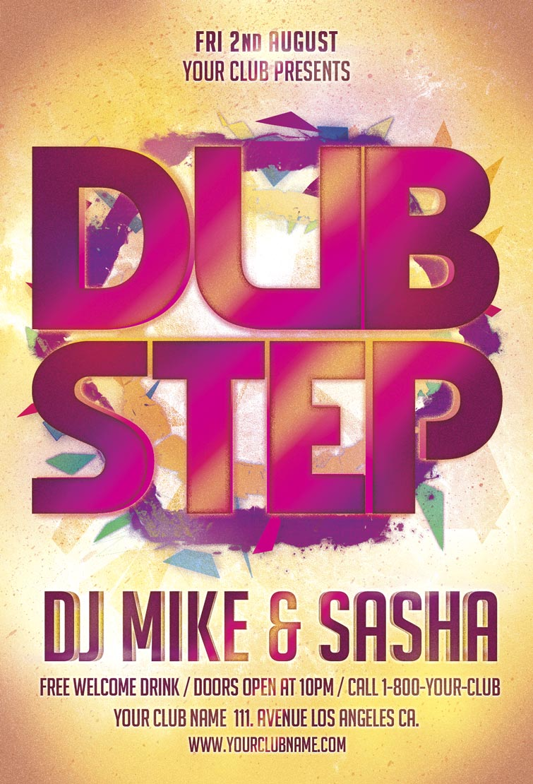 Dub Step Party Flyer Template