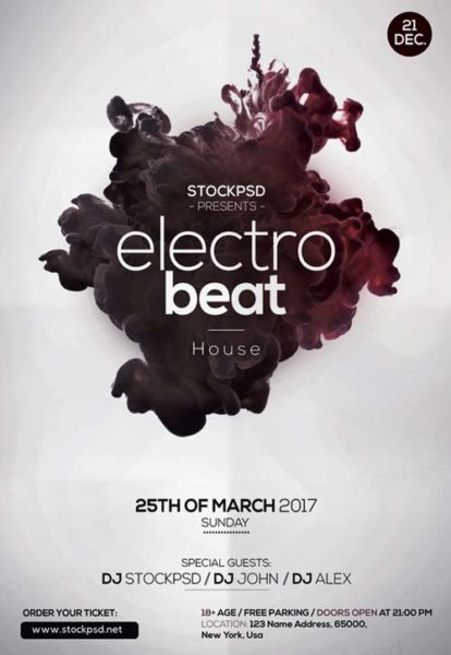 Electro Beats Free Flyer Template