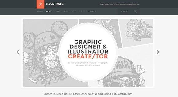 Creative Free PSD flat website template