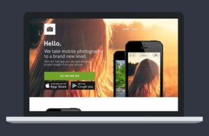 Creative Website template for apps PSD