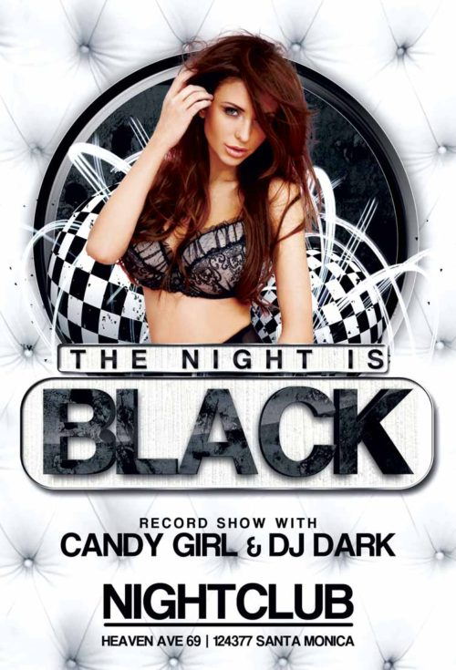 Black Night Club Party Flyer Template