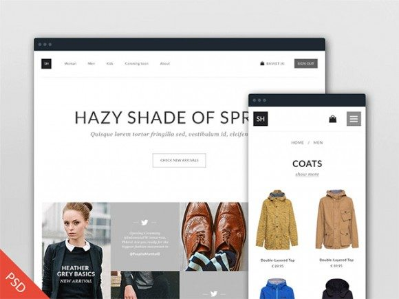 Creative Free PSD eCommerce template