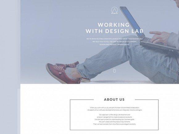 Creative Free PSD landing page