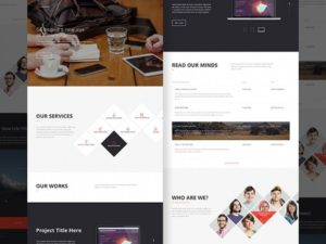 Creative Office Landing Page PSD
