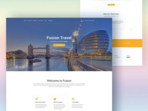 Creative Fusion: Website template for travel agencies