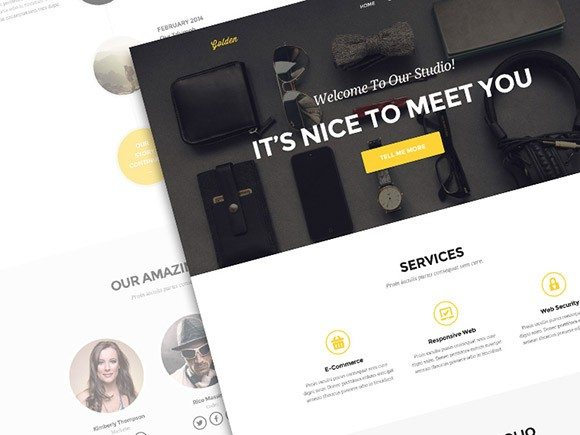 Creative Golden ‰ÛÒ One page portfolio PSD