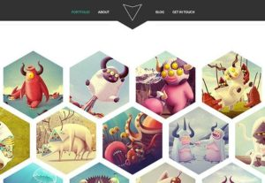 Creative Hexal ‰ÛÒ PSD portfolio template