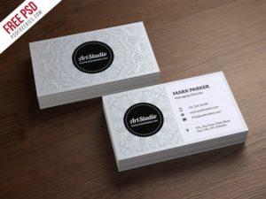 Creative Creative White Business Card Free PSD