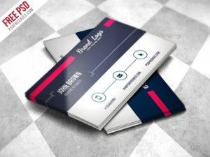 Creative Modern Business card Design Template Free PSD