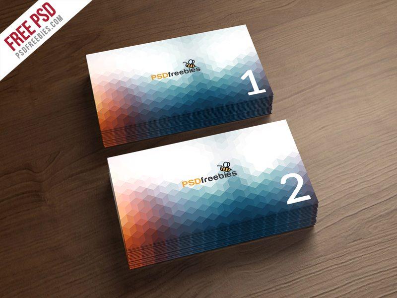 Creative Business Card Mockup Template Free PSD