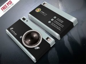 Creative Photography Business Card Template Free PSD