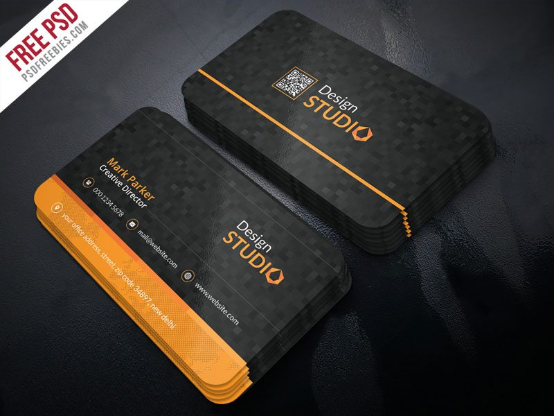 Creative Creative Studio Business Card PSD Template