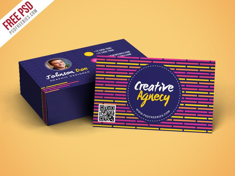 Creative Creative Agency Business Card Template PSD