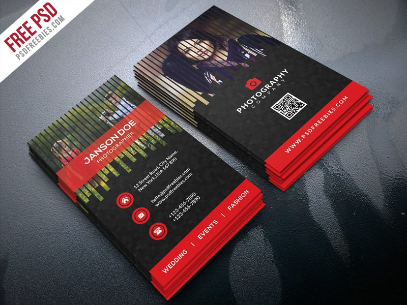 Creative Professional Photographer Business Card PSD Bundle