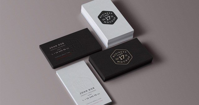 Creative Professional Business Card Stack Mockup Free PSD