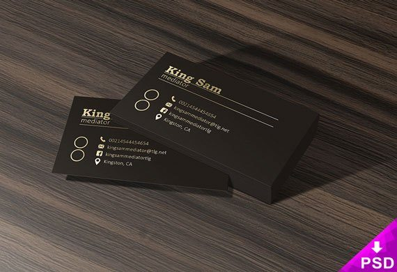 Creative Dark Business Card Mockup Free PSD