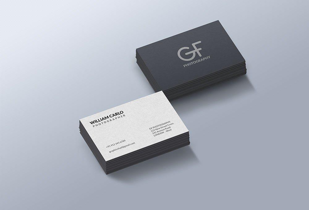 Creative Photorealistic Business Cards Mockup Free PSD