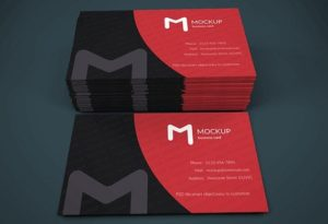 Creative Modern Business Card Mockup Template Free PSD