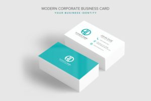 Creative Modern Corporate Business Card PSD Template