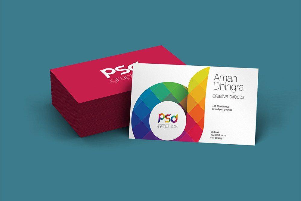 Creative Business Card Mockup Free PSD
