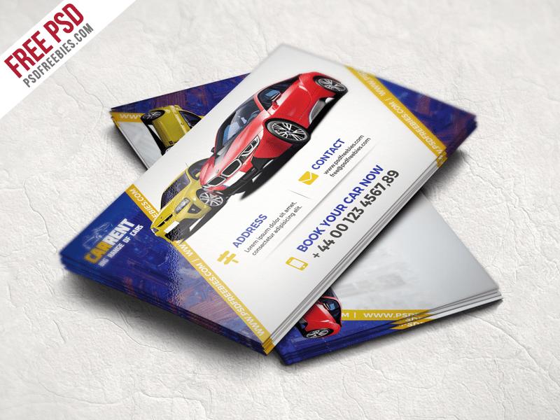 Creative Car Dealer Business Card Template Free PSD