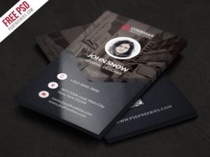 Creative Modern Business Card Free PSD Template