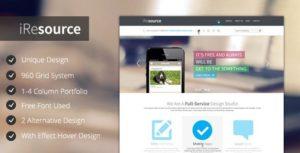 iResources - Themeforest Creative One Page portfolio PSD Theme