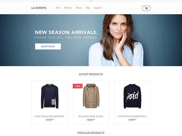 Creative La Shoopa ‰ÛÒ PSD eCommerce Template