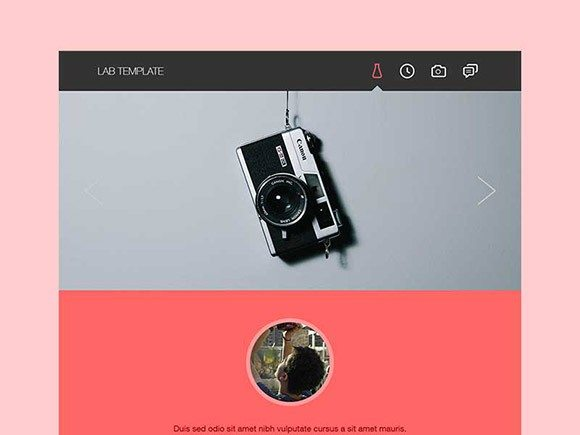 Creative Lab ‰ÛÒ Free portfolio template