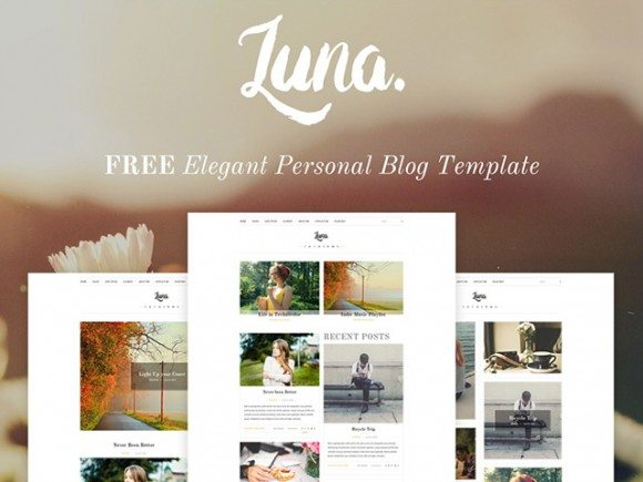 Creative Luna ‰ÛÒ Blog PSD template