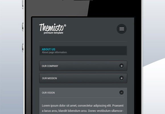 Creative Mobile interface PSD template