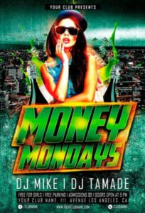 Money Monday Party Free Flyer Template