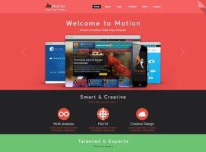 Creative Motion PSD website template