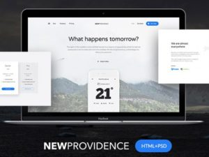 Creative New Providence: Free landing page HTML + PSD