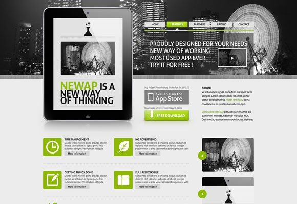 Creative Newap ‰ÛÒ Free PSD website template