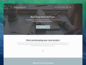 Creative Notebook ‰ÛÒ Landing page template