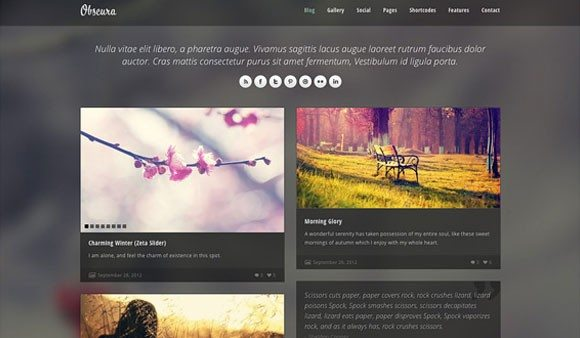 Creative Obscura ‰ÛÒ Free Homepage PSD