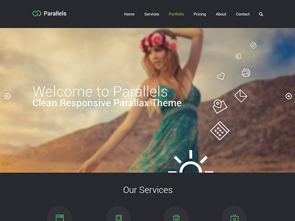 Creative Parallels ‰ÛÒ One-page PSD template