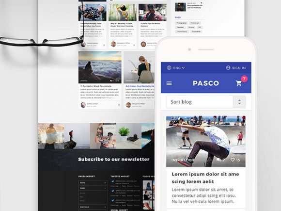 Creative Pasco: A free PSD multipurpose template
