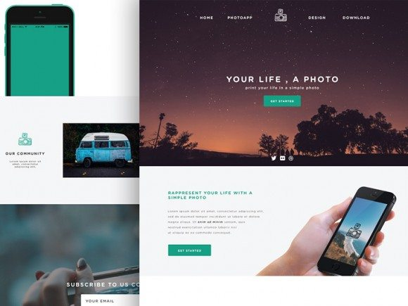 Creative Phototime ‰ÛÒ PSD website template