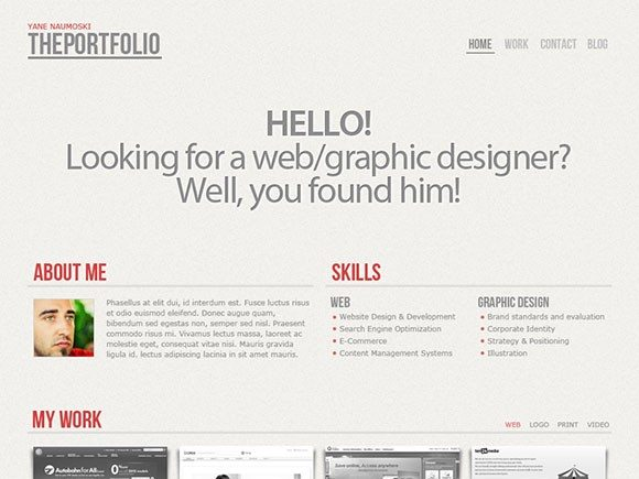 Creative The Portfolio ‰ÛÒ PSD website template