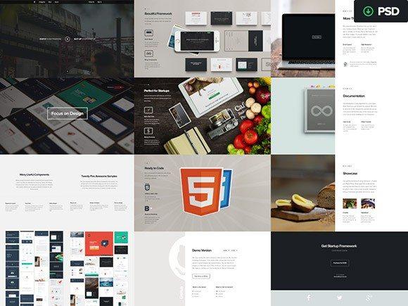 Creative Startup Framework by Designmodo PSD