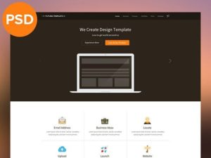 Creative Flat multipurpose template PSD