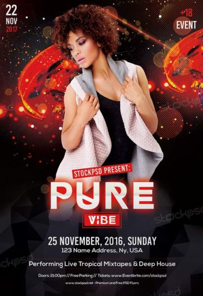 Pure Vibe Club Free Flyer Template