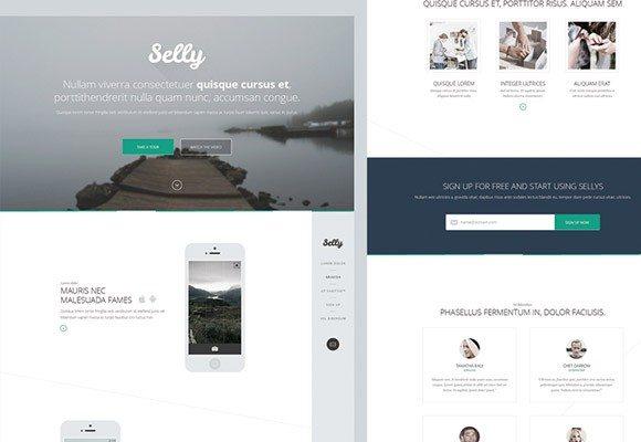 Creative Selly ‰ÛÒ Clean PSD landing page